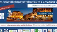 «Life Cycle Innovation for the transition to a sustainable society» La 22ème édition du SETAC Europe LCA Case Study Symposium aura lieudu 20 au 22 septembre 2016, à Montpellier, SupAgro […]