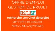 Offre pourvue Le projet #DigitAg recherche son Chef de projet CDD 36 mois, basé à Montpellier, à l'UMR ITAP d'Irstea Voir le détail de l'offre et postuler :http://bit.ly/2jYwBW5 Contact : […]