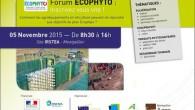 Forum ECOPHYTO Agroéquipements Montpellier, Jeudi 5 novembre 2015 Comment les agroéquipements en viticulture peuvent-ils répondre aux objectifs du plan Ecophyto ? Des solutions concrètes pour optimiser les applications de […]